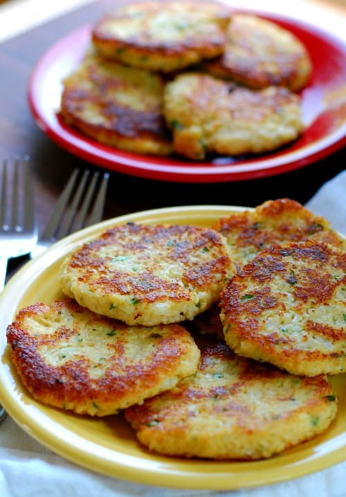 Low Carb Fried Cauliflower Patties